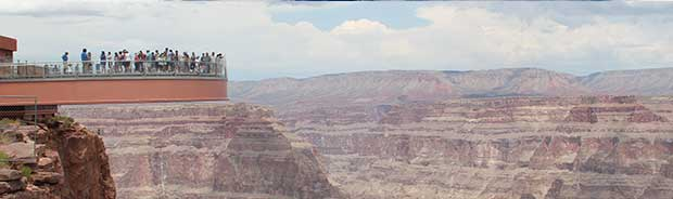 En vy över Grand Canyon Skywalk.