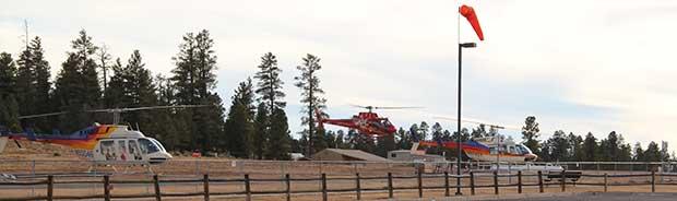 En helikoptertur ska precis starta i Tusayan.