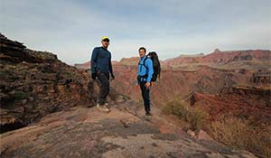 Trekking och vandring på South Kaibab Trail i Grand Canyon