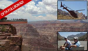Grand Canyon Skywalk, helikopter tour och båttur