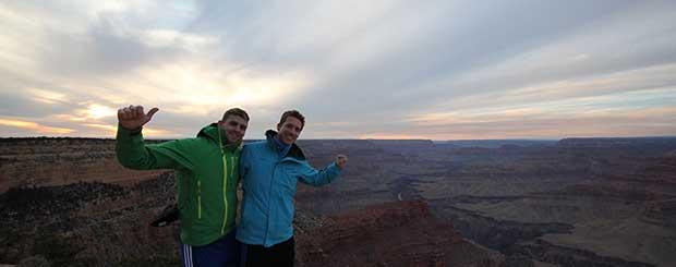 Södra Grand Canyon på vintern.